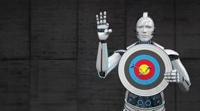 Roboter-Ziel lizenzfreie abbildung
