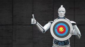 Roboter-Ziel O.K. stock abbildung