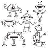 Roboteransammlung Stockfoto