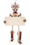 Roboteranschlagtafel Stockfotografie
