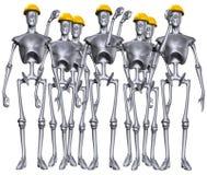 Roboterarbeitskräfte Stockfotografie