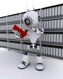 Roboterarchivierungsdokumente Lizenzfreie Stockfotografie