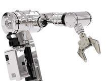 Roboterarm lizenzfreie stockbilder