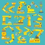 Roboterarm flach stock abbildung