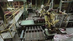Roboterarme stock footage