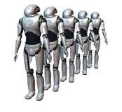 Roboterarmee Stockbilder
