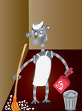 Roboterbedienstete 1 lizenzfreie abbildung