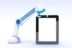 Roboterbetrugtablette Stockfotos