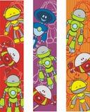 Roboterbookmarks Stockbilder