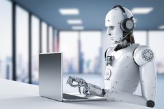 Robotercall-center Lizenzfreie Stockbilder