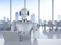Robotercall-center Stockbild