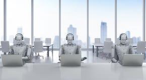 Robotercall-center Lizenzfreie Stockfotografie