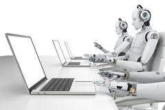 Robotercall-center Stockfotos