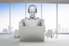 Robotercall-center Lizenzfreie Stockfotos