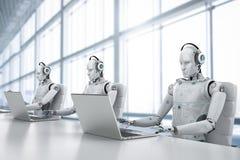 Robotercall-center Stockfoto