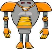 Robotercharakter-Karikaturillustration vektor abbildung