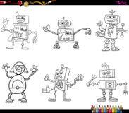 Robotercharaktere, die Seite färben Lizenzfreies Stockfoto