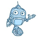 Robotercharakterkarikatur Lizenzfreies Stockfoto