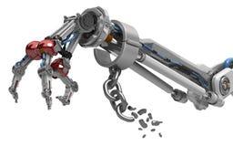 Roboterfinger des arm-drei, Fessel-Bruch vektor abbildung