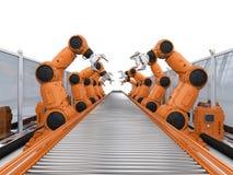 RoboterFließband stockfotos