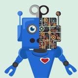 Robotergang im Gesicht Lizenzfreies Stockbild