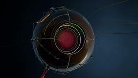 Robotergroßer bruder der roten Augen lizenzfreie abbildung