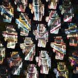 Robotergruppenzusammenfassung Stockfoto