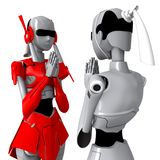 Roboterhaltung Thailand-Tradition Lizenzfreies Stockfoto