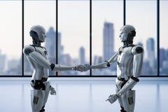 Roboterhanderschütterung Lizenzfreies Stockfoto
