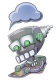 Roboterholding-Tablette PC Lizenzfreies Stockbild