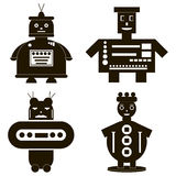 Roboterikonen eingestellt Lizenzfreie Stockfotos