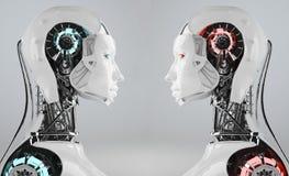 Roboterkonkurrenz stock abbildung