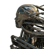 Roboterkopf rückwärts Lizenzfreies Stockbild