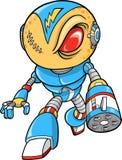Roboterkrieger-vektorabbildung Stockfotos