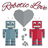 Roboterliebe Stockfoto