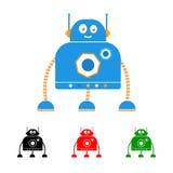 Roboterlogo Lizenzfreie Stockbilder
