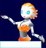 Robotermädchen lizenzfreie abbildung