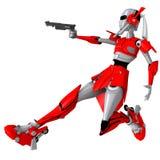 Roboterschießengewehr 3 Stockfotos