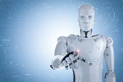 Robothand het richten stock illustratie