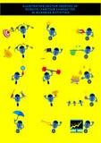 Robotic affärsman Cartoon Character vektor illustrationer