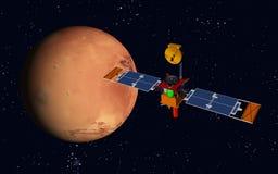 Robotic spacecraft and planet Mars Stock Photos