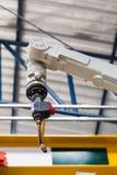 Robotic arc welding machine. In smart factory in metalwork industry royalty free stock photos