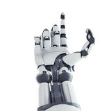 Robotic arm. Isolated robotic arm on white background Royalty Free Stock Image