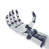 Robotic arm. Isolated robotic arm on white background Stock Images