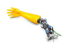 Robotic arm. 3d image, conceptual, fiction ribotic arm Stock Photos