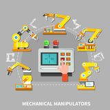 Robotic arm composition Royalty Free Stock Photography