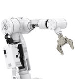 Robotic arm. 3d rendering robotic arm on white background royalty free stock photos