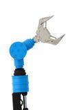 Robotic arm för blå wireframe Royaltyfri Bild