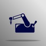 Robotic arm för vektor Royaltyfri Fotografi