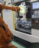 Robotic Arm In Factory Stock Photos